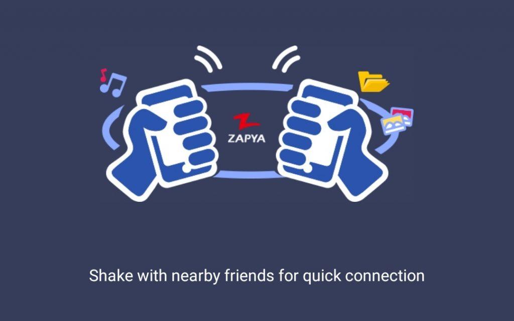 طرح جدید زاپیا اتصال از طریق تکان دادن گوشی