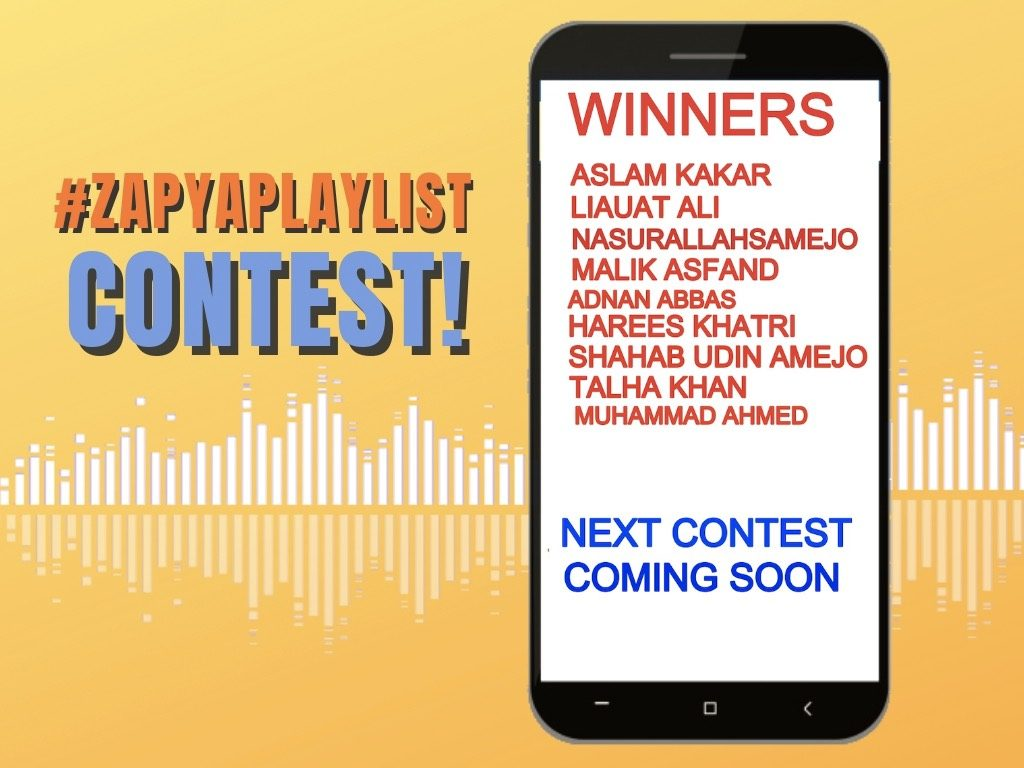 Zapya Playlist Contest Winners Announcement