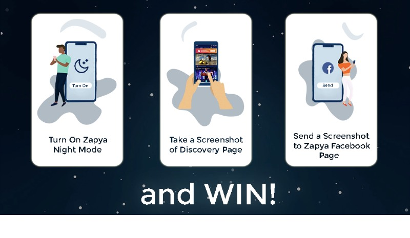 Zapya Night Mode – Have a Chance to Win !
