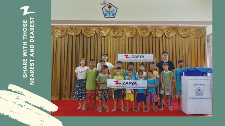 ZAPYA Charity Event in Myanmar