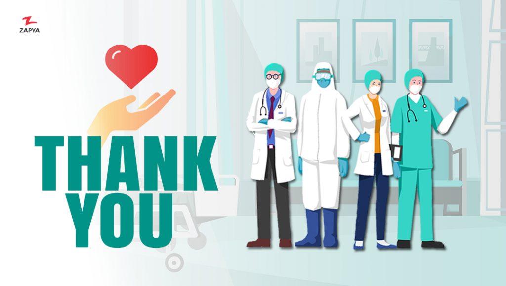 تشکر و پشتیبانی از مدافعان سلامت