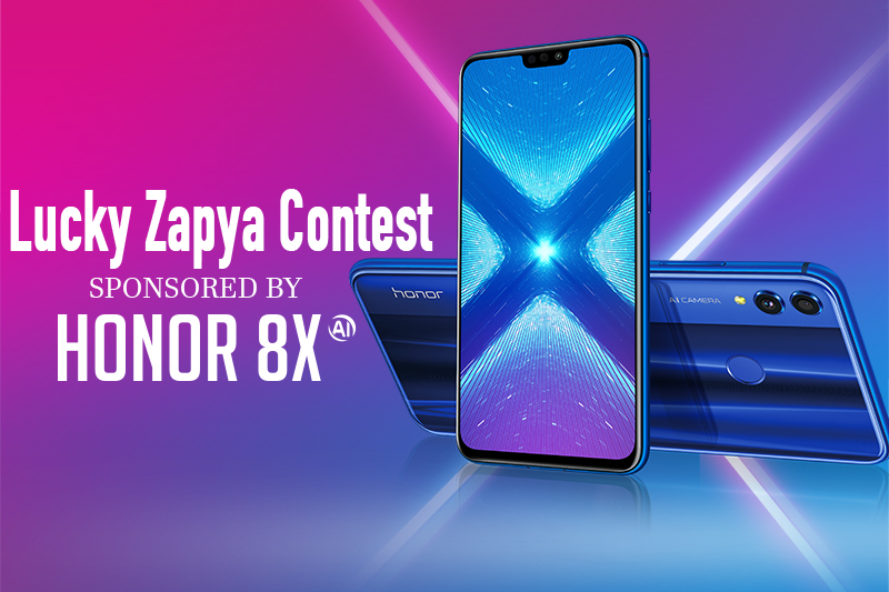Huawei Honor Brand Partners with Zapya for Lucky Zapya Contest
