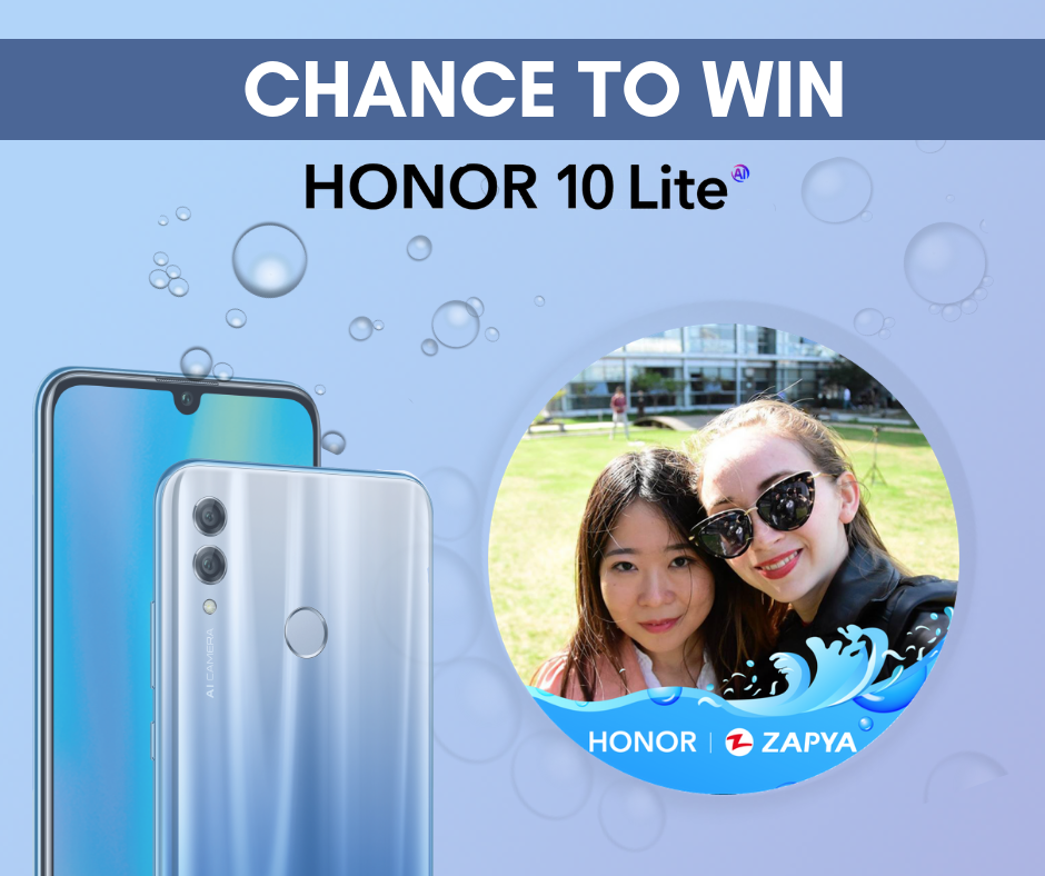 Win the new Honor 10 Lite with Zapya Honor Contest