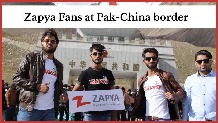Zapya Fans at Pak-China Border