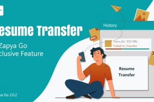 Resume Transfer: A Zapya Go Exclusive Feature