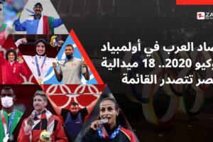 حصاد العرب في أولمبياد طوكيو 2020.. 18 ميدالية ومصر تتصدر القائمة