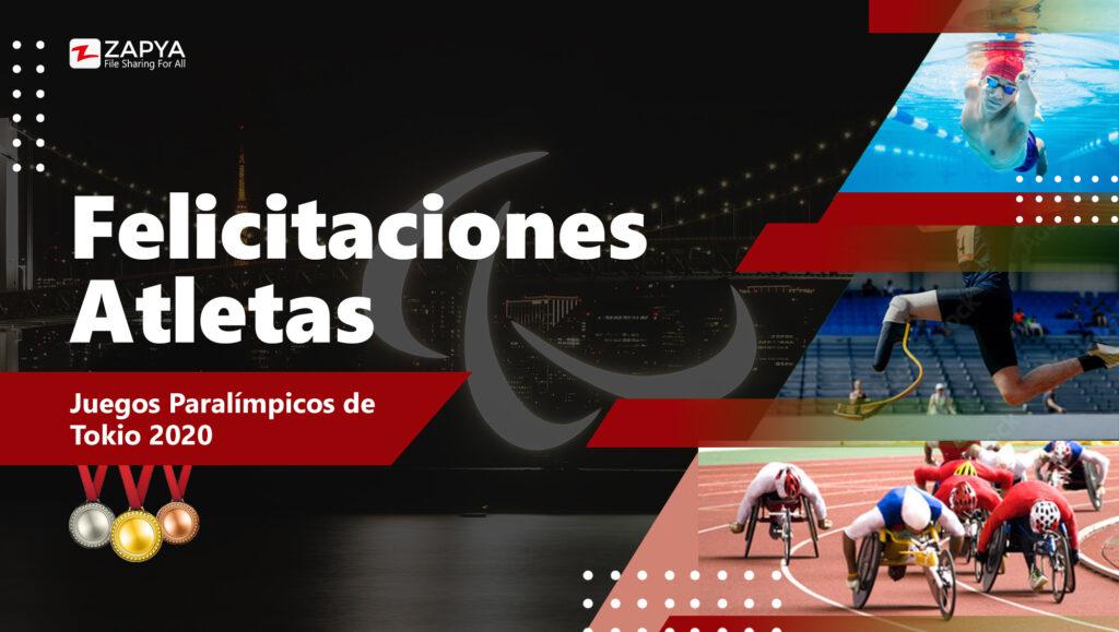 Felicitaciones Atletas Paralímpicos